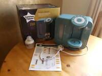 Tommee Tippee Perfect Prep machine with unopened bottle and original with instructions