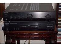 Kenwood KAF1030 Amplifier, DPF2030 CD Player, plus speakers with stands