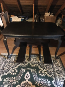 Turn of the century antique dining set with side board