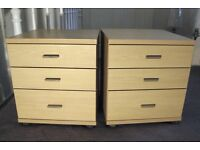 2 Light Oak Zenith Bedside Cabinets Excellent Condition £130 for pair