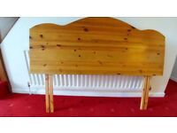 Double Bed Pine Headboard in good condition