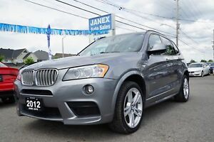 2012 BMW X3 xDrive35i Accident free, M-package,sport  package