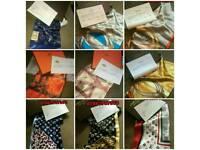 Louis Vuitton Gucci Hermes silk scarfs new boxed