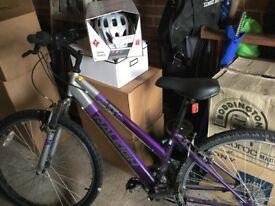 Ladies Bike and Brand New Helmet