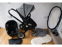 Silver Cross Surf Eton Grey Pushchair pram travel system 3 in 1 CAN POST