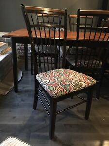 Shermag dining table chairs, china cabinet