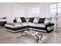 **CHEAPEST PRICE EVER** :) NEW DINO CRUSHED VELVET CORNER AND 3+2 SEATER SOFA AVAILABLE