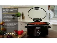 Slow Cooker Crock-Pot 5.7L with Hinged Lid, Black - New