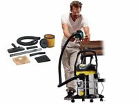 New Parkside 1400w Wet Dry Vacuum With Auto Switch Power Socket Take Off For Extraction + Blower