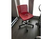 Ikea Red swivel desk chair