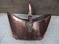COPPER COAL SCUTTLE ,HIGHLY POLISHED