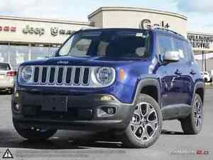 2016 Jeep Renegade LIMITED | 4X4 | DEMO | LEATHER | NAV | SKY RO