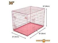 "Cozy Pet 36"" dog cage for sale."