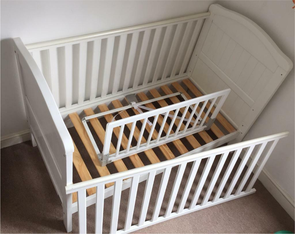 East Coast Nursery Cot Bed With Without Mattress Plus Toddler Guard