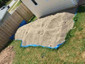 8-10 cubic yards of pea gravel