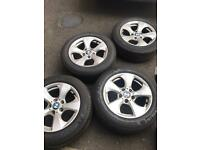 """BMW 16"""" alloys with tires"""