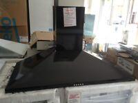100cm black cooker hood. Marked. 12 month gtee