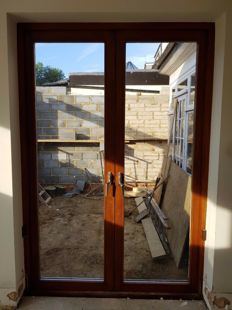 French Doors Hard Wood Height 2 4m Width 1 6m