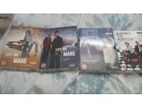 box sets of Life on Mars series 1 & 2. and Ashes to 1 & 2.