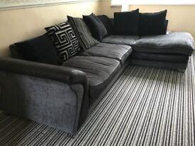 L-shaped sofa plus matching circle sofa