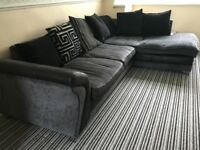 L-shaped sofa plus matching circle sofa