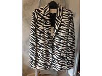 ladies river island zebra print blazer jacket 10