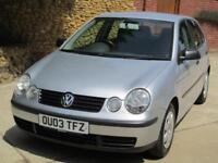 Volkswagen Polo 1.4 2003 S Cambelt Done 2014 FSH ONLY 44,121 MILES FROM NEW !!!!
