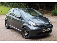 2008 Toyota Aygo 1.0 VVTi Grey 3 dr with Alloys Long MOT Low Mileage £20 per year road tax