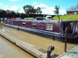 65ft Narrowboat, ideal Liveaboard, Garstang, Lancaster canal, comfortable, spacious, light & airy