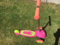 ELC pink ride and glide scooter