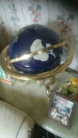 Brass marble coffee tabel and ,eath haters take 60 for to