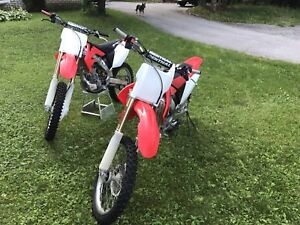 Two 2004 CRF 250R
