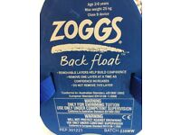 Zoggs back float. Kids arm band alternative. Early stage swim training aid