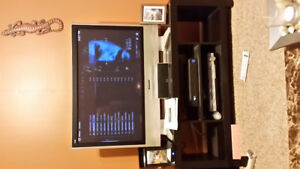 "42"" Panasonic plasma and tv stand"