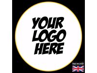 CUSTOM LOGO PRINTING STICKERS LABELS ROUND RECTANGLE