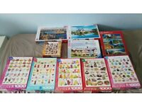 Joblot 10 jigsaw puzzles all 1000 piece carboot bundle