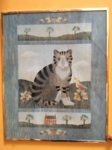 Framed Cat wall art