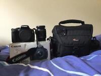 Canon 600D DSLR Camera & Lowepro Camera Bag