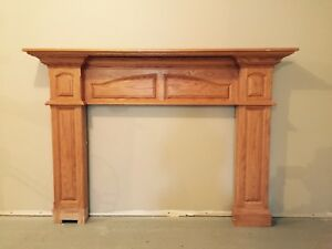 Solid Oak Mantel