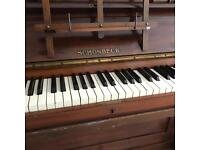 Vintage Upright Piano - Schonbeck - £49 ono