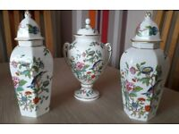 "Aynsley Fine Bone China ""Pembroke"" design Lidded Vases"