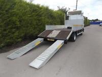 Iveco Eurocargo Ml75 BEAVER TAIL / DROPSIDE / PLANT TRUCK WITH RAMPS - 7.5 Ton