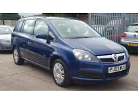 2007 Vauxhall Zafira Automatic Blue + Service History + Long MOT + HPI Clear + Auto