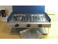Camping gaz cooking chef double burner with grill