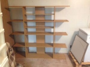 "Euro Style Shelving Unit ~ 5 Feet High X 5 Feet 2 1/2"" Wide"