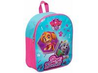 Paw Patrol Backpack Rucksack Travel Junior Kids Work Nursery School Bag Girls