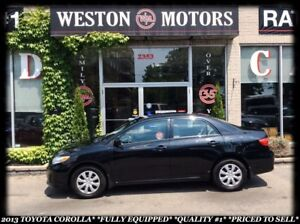 2013 Toyota Corolla *FULLY EQUIPPED *QUALITY #1 *PRICED TO SELL!