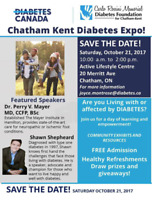 Chatham Kent Diabetes Expo! October 21, 2017!