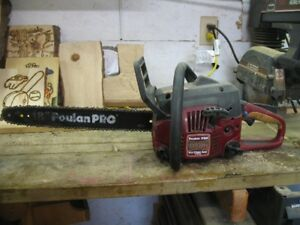 18 in. pouland chain saw only 3 tanks of gas threw it