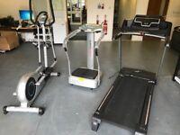 Treadmill + cross trainer + vibroplate